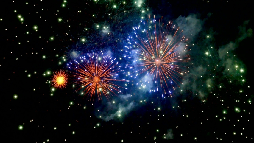 The fireworks in the night sky | Shutterstock HD Video #1029980129
