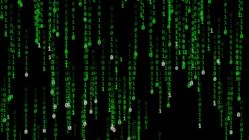 Matrix style background - numbers and letters going down | Shutterstock HD Video #1030010189