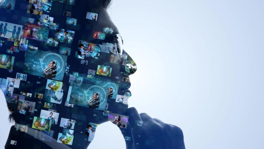 Social media concept. Communication network. | Shutterstock HD Video #1030083329