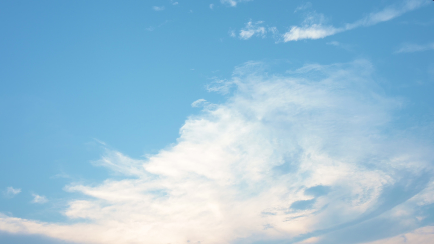 Blue sky and White cloud. clear blue sky with plain white cloud . 4k resolution   Shutterstock HD Video #1030222679