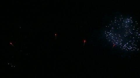 4K Fireworks on the sky display,Beautiful Fireworks on the sky,Celebration background concept.Wonderful Firework background