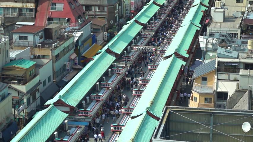 Asakusa market in Tokyo, Japan | Shutterstock HD Video #1030412519