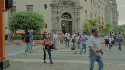 MIRAFLORES, LIMA, PERÚ, March 29 2019, Larco Avenue & Miraflores City Hall
