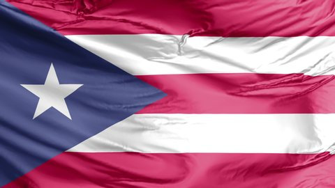 The waving national flag of the Puerto Rico