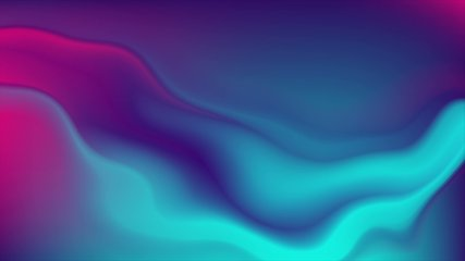 Blue and purple neon flowing liquid waves abstract motion background. Seamless loop. Video animation Ultra HD 4K 3840x2160