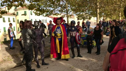 Lucca, Italy - 11 03 2018: Comic Con & Games Lucca