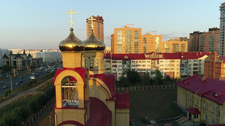 City Russian Orthodox Church in Kazan  | Shutterstock HD Video #1030911959