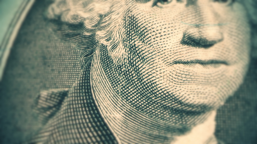 1 dollar bill with President Benjamin Franklin. The United States one hundred-dollar bill | Shutterstock HD Video #1031008439