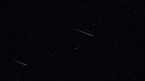 Simulation Stars In Dark Blue Sky At The Universe And Some Star Was Falling Seamless Animation