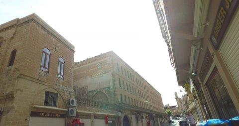 View of the historical narrow streets of the Mardin city/Mardin- Turkey. 06.06.2019