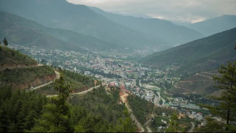 Sunrise over Thimphu City, Bhutan
