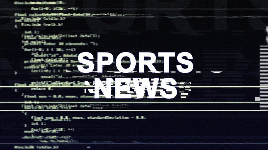 SPORTS NEWS Glitch Text Animation, Rendering, Background, with Alpha Channel, Loop, 4k  | Shutterstock HD Video #1031444999