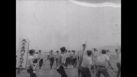 CIRCA 1940s - Japan dominates on the battlefield and in the war in 1943 in this propaganda film.