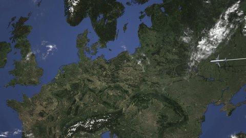 Deutschland Karte 3 D Stock Video Footage 4k And Hd Video Clips