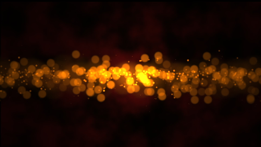 Abstract golden particles background with bokeh. Glamour sparkly holiday and wedding background. 4k | Shutterstock HD Video #1031506019