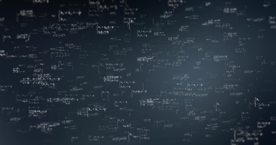 Math and science digital background.  Technological particles. Digital VR and AR future computer interface. Global network and internet connect communication or social media data loop.  | Shutterstock HD Video #1031528039