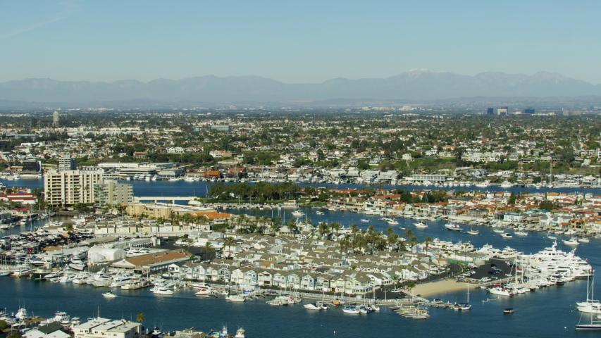 Aerial View Of Newport Beach Marina