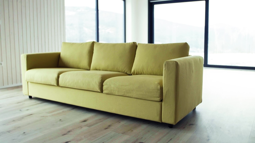 A Yellow Sofa in Modern Stock Footage Video (100% Royalty-free) 1032832139  | Shutterstock