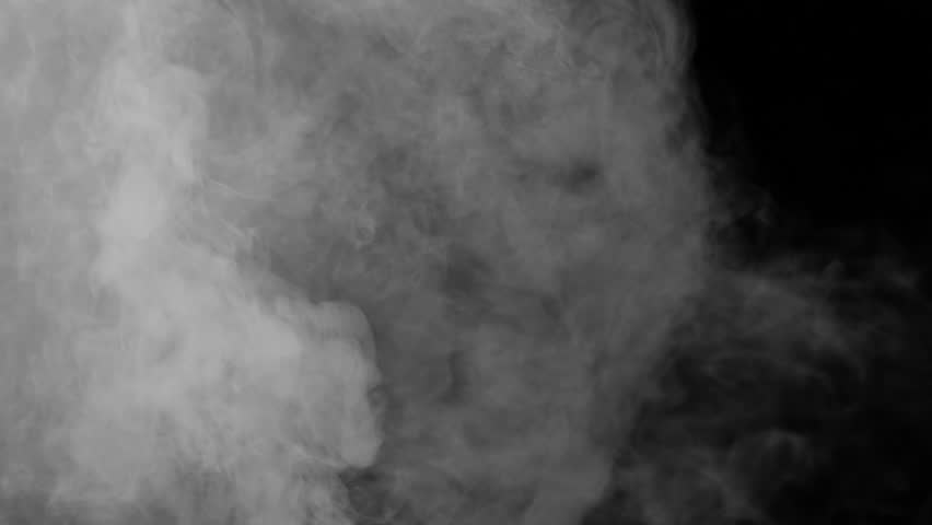 Smoke on the left side, floating and swirling in space on black background | Shutterstock HD Video #10328339
