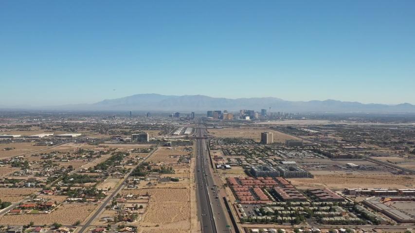Drone Flight Over Las Vegas Nevada Suburbs | Shutterstock HD Video #1032843569