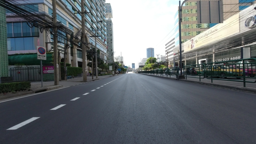 Time Lapse POV on motorcycle on road in Bangkok Thailand. | Shutterstock HD Video #1032953999
