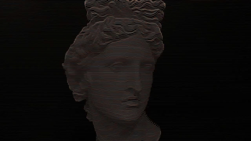 Apollo bust. Digital pixel noise glitch art effect. Retro futurism 80s 90s dynamic wave style. Video signal damage with tv noise and old screen interference. Retro wave, synth wave theme. | Shutterstock HD Video #1033051559