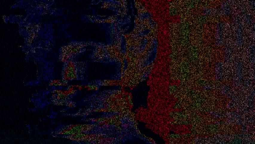 Apollo bust. Digital pixel noise glitch art effect. Retro futurism 80s 90s dynamic wave style. Video signal damage with tv noise and old screen interference. Retro wave, synth wave theme. | Shutterstock HD Video #1033051619