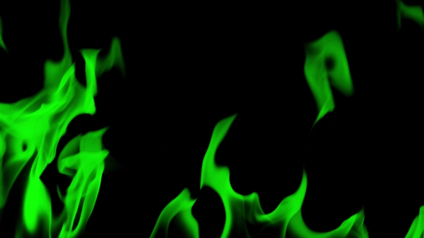 Fire Flames Igniting And Burning - Slow Motion. A line of real flames ignite on a black background. Real fire. Transparent background. PNG + Alpha.    Shutterstock HD Video #1033067099