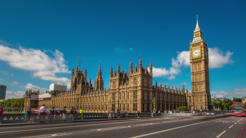 Big Ben Hyperlapse London Day | Shutterstock HD Video #1033137569