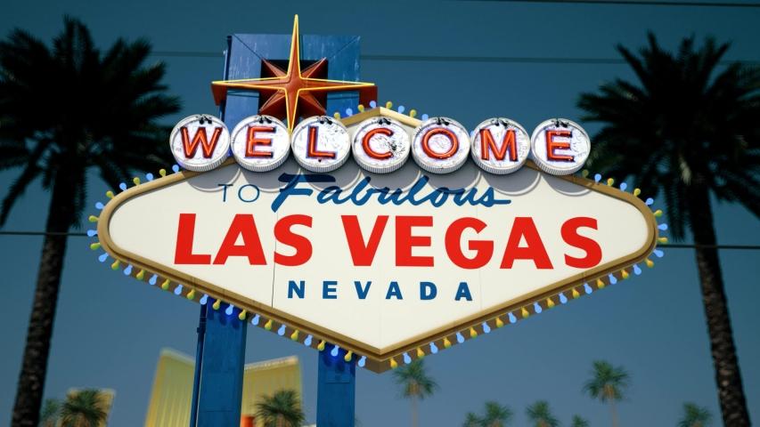 Las Vegas Sign, Fast Tilt Down | Shutterstock HD Video #1033162139