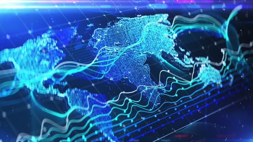 World map abstract background, financial news intro, green screen replacement. International news, simple backgrounds | Shutterstock HD Video #1033331399
