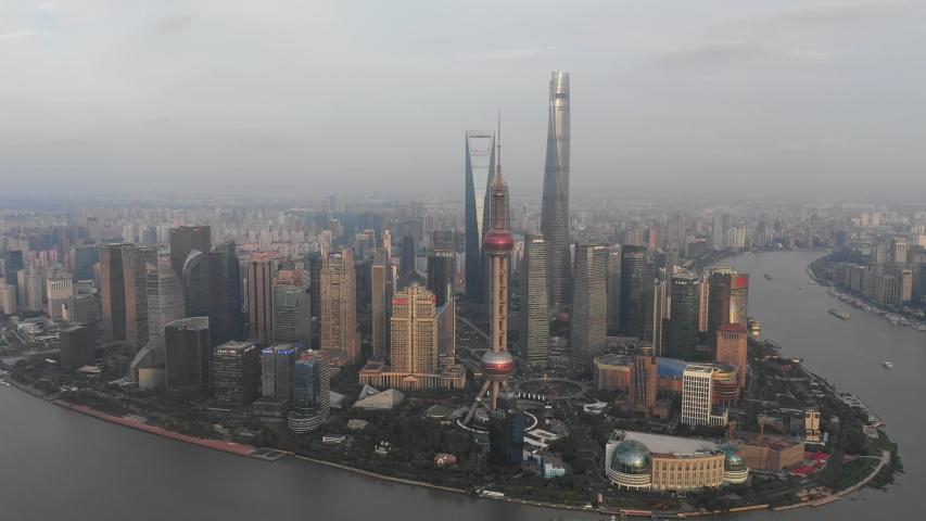 Asian China Shanghai City Architecture Scenery | Shutterstock HD Video #1033395479