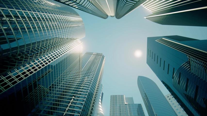 Skyscrapers, Business Buildings, Business Center (graded) | Shutterstock HD Video #1033441799