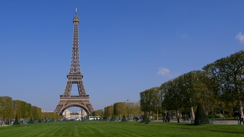 Eiffel tower in Paris, Europe, France | Shutterstock HD Video #1033466549