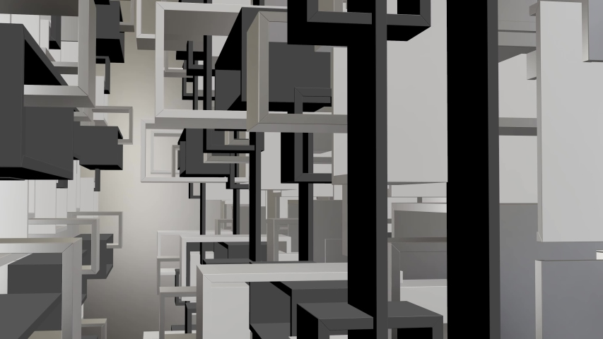 3d render cubes blocks squares abstract motion background | Shutterstock HD Video #1033643129