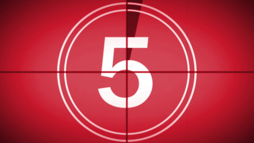 This is a video of Old film style 5-second countdown   Shutterstock HD Video #1033711199