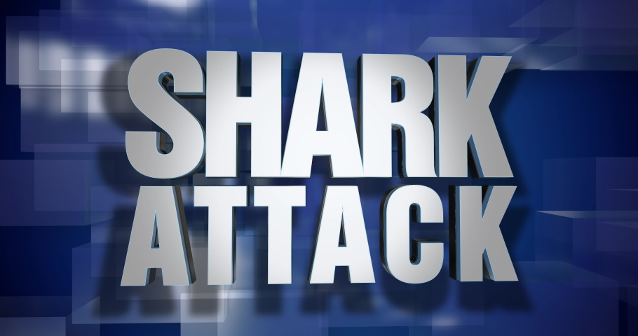 A blue dynamic 3D Shark Attack news transition and title page animation. 5 and 2 second options included. Green screen.	 	 | Shutterstock HD Video #1034366459