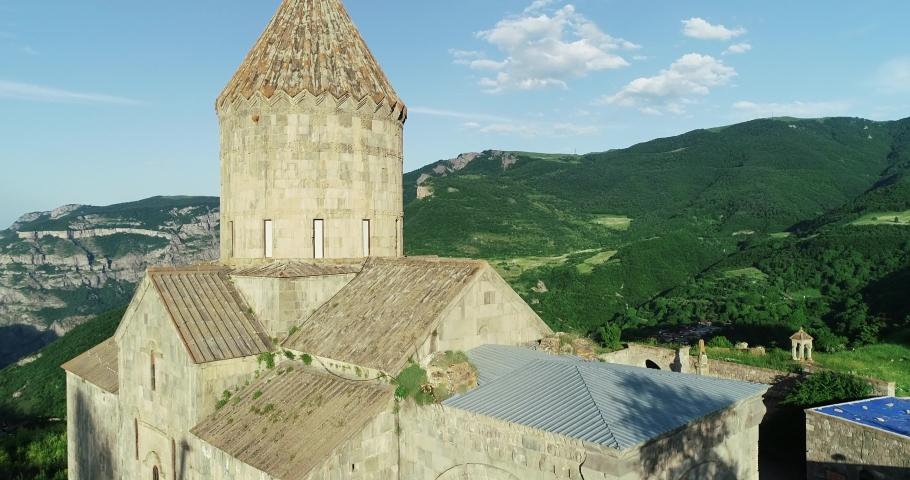 Tatev monastery-Armenian monastery complex of the late IX-early X centuries in Syunik region. Armenia. | Shutterstock HD Video #1034395199