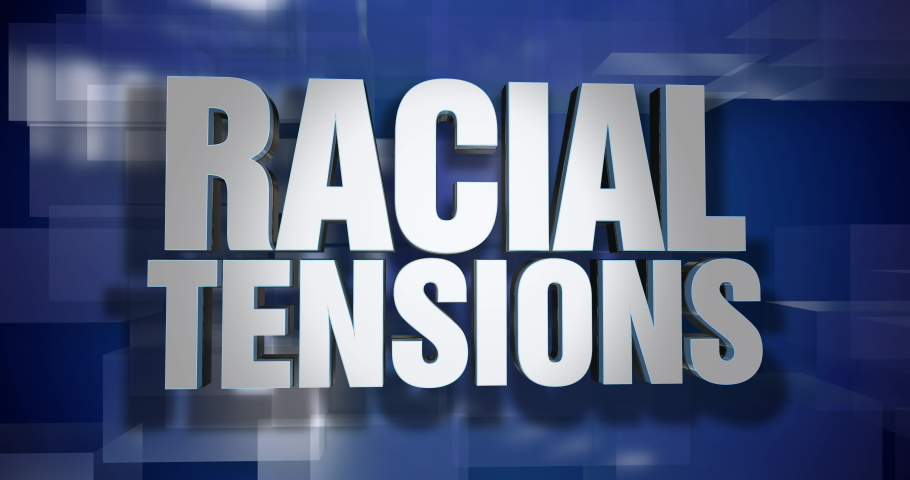 A blue dynamic 3D Racial Tensions news transition and title page animation. 5 and 2 second options included. Green screen.  	 | Shutterstock HD Video #1034547869