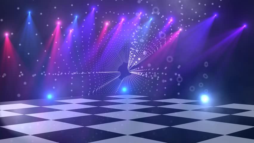 virtual dance floor disco lights stock footage video  100