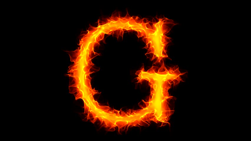 Letter G On Fire Stock Footage Video 100 Royalty Free