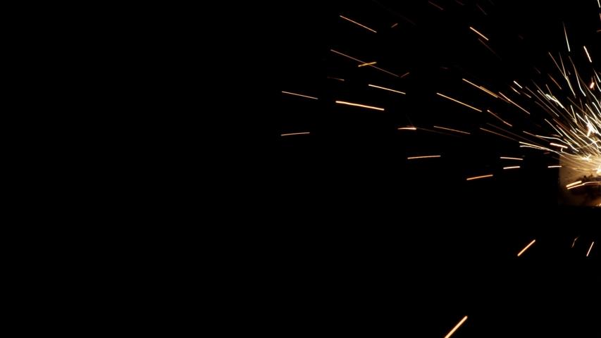 4K Sparks, Welding Sparks, Welding Ceiling, Floating Spark Particles #1034786309