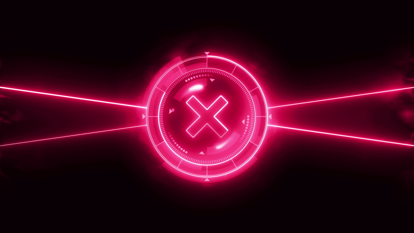 Futuristic sports game loop animation. Versus fight background. Radar neon digital display. X target mark. Game control interface element. Battle fight sports competition. | Shutterstock HD Video #1035186929