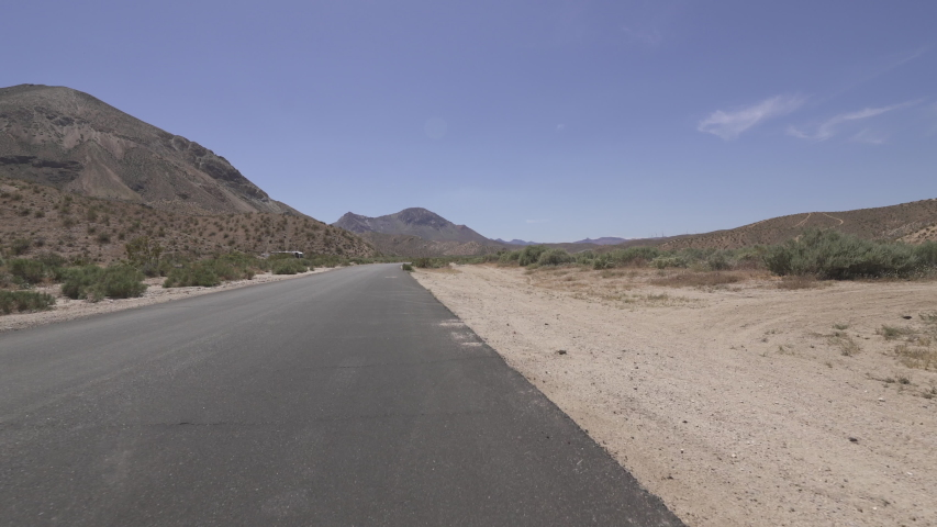 Driving Template Desert Canyon Road Mojave California Rear View Time Lapse | Shutterstock HD Video #1035269759