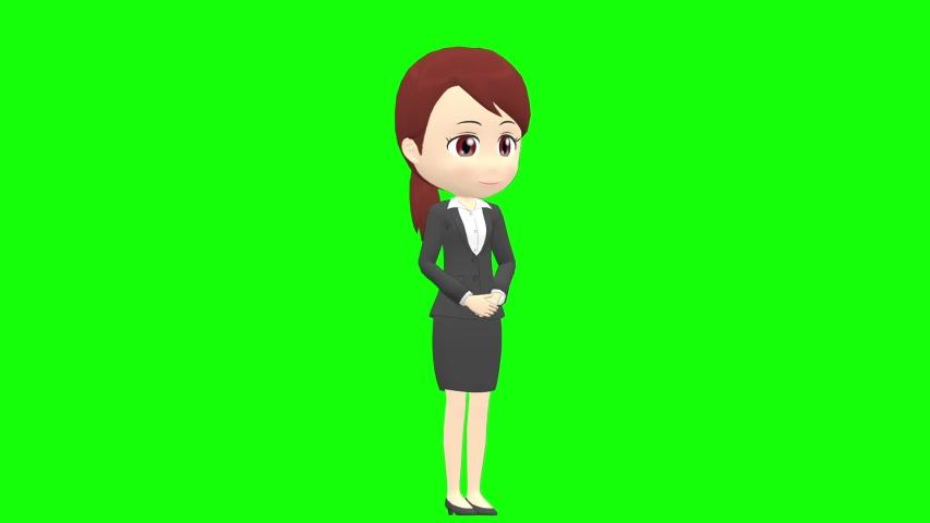 [Presentation A] Woman B suit oblique angle whole body | Shutterstock HD Video #1035326789