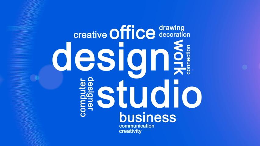 Design Studio Animated Word Cloud,Text Design Animation. | Shutterstock HD Video #1035340829