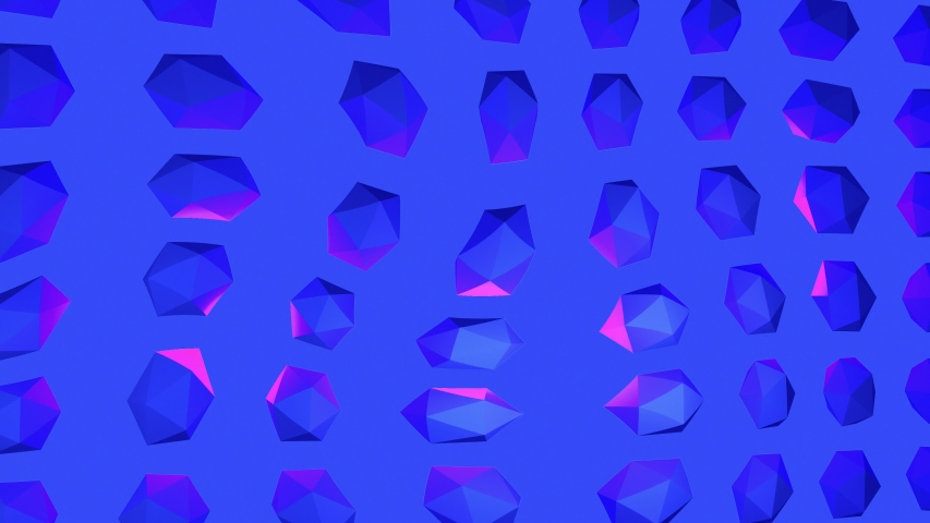 Contemporary animation art. Trippy crystal background blue and purple. Fashion colorful vibes. 4K | Shutterstock HD Video #1035370109
