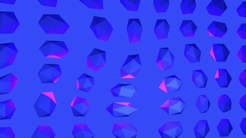 Contemporary animation art. Trippy crystal background blue and purple. Fashion colorful vibes. 4K