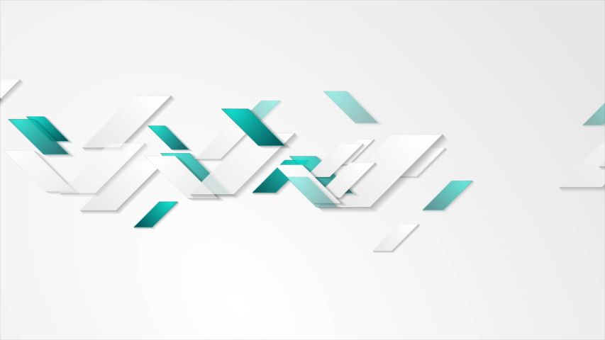 Turquoise and grey tech geometric minimal motion design. Abstract background. Seamless loop. Video animation Ultra HD 4K 3840x2160 | Shutterstock HD Video #1035509099
