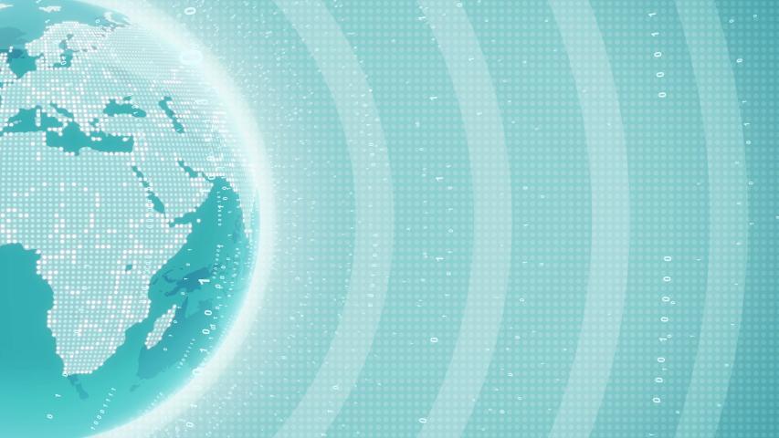 Futuristic Background with Globe Earth Hologram Hud Animation #1035526109